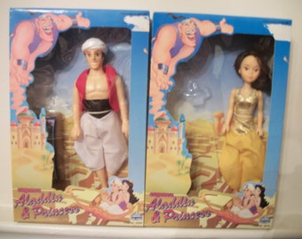 Aladdin and Jasmine dolls