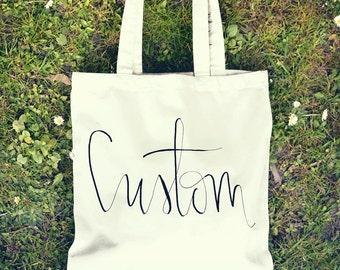 Custom Tote Bag- Large