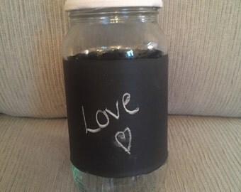 Upcycled Blackboard Jar