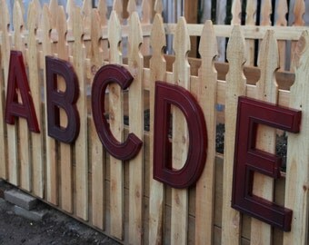 """Marquee Letters 17"""" Red Translucent - A Through E - Multiples"""