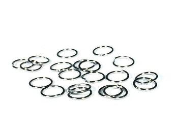 8 mm Gunmetal Jump Rings / 8 mm Jump Rings / Set of TWENTY