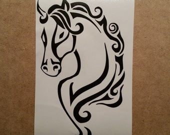 Horse Wall Decal - Horse Decal - Horse Laptop Sticker - Horse Vinyl Decal - Horse Car Decal - Horse Laptop Decal - Horse Car Sticker