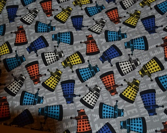 DR WHO DARLEKS Fabric Fat Quarter  100% Cotton Fabric