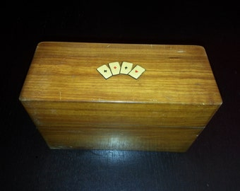 Chest card box Wood Art Deco