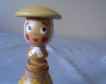 wooden egg cup dolly