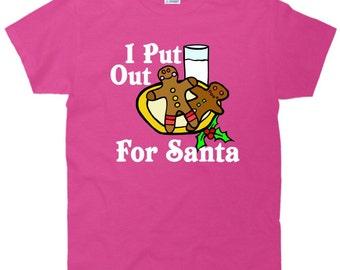 Funny Christmas T-Shirt - I Put out for Santa