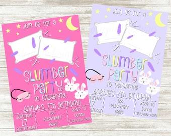 Girly Slumber Party Invitation