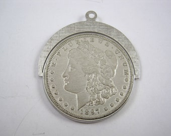 1897-O MORGAN 90% Silver Dollar Pendant Rotating Vintage Coin US United States Trendy Pendant