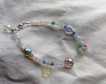 Handmade Springy crystal bracelet