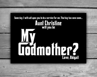 Godmother Card - Printable - Will You Be My Gomother - DIY - Be My Godmother Card - 0025
