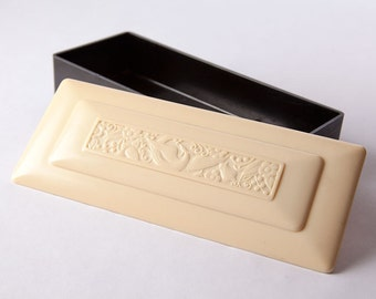 Vintage Bakelite Trinket Box, Community Silver Co.