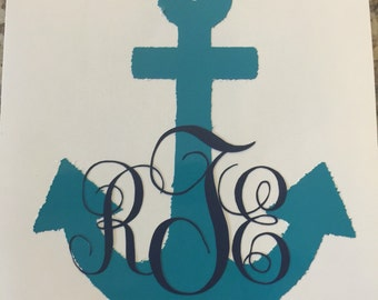 Personalized Anchor with Monogram Decal