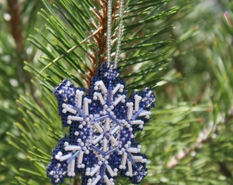 Blue Ice Ornament