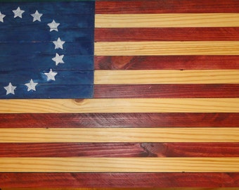 Hand crafted American 13 Star Flag
