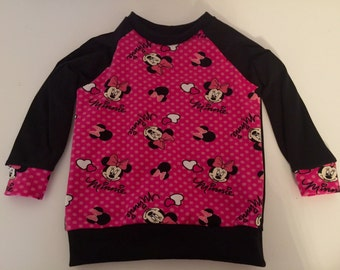 Handmade Size 2 Minnie Raglan Sweater