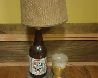 Old style beer table side lamp