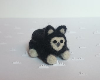 Felted Black and White Gwiffin