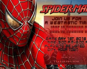 Spiderman Birthday Invite 2