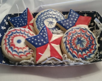 July 4th cookies - Independence day - Fourth of July