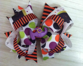 Witch Halloween Hair Bow