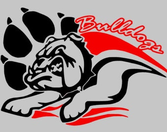 Georgia Bulldog Decal
