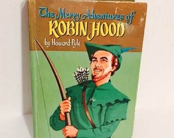 Vintage 1955 The Merry Adventures of Robin Hood of Great Renown in Nottinghamshire by Howard Pyle Hardcover