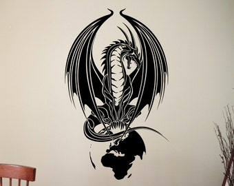 Dragon Wall Decal Draco Sticker Home Wall Decoration Living Room Bedroom Decor Wall Art Murals Removable Stickers 2drzz