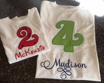 Curly Que Personalized Birthday Shirt