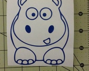 Hippo Vinyl Decal