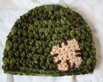 Cute as a button infant boy hat