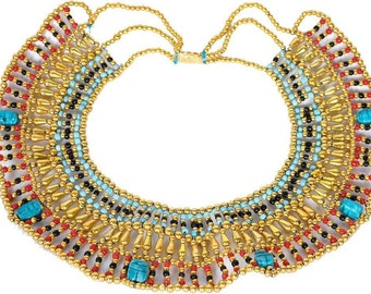Medium Size CLEOPATRA Scarab Belly Dance Oriental Necklace