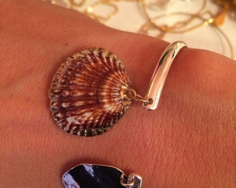 Cane silver plate and shell want jewel of creator mademoiselle VK summer summer