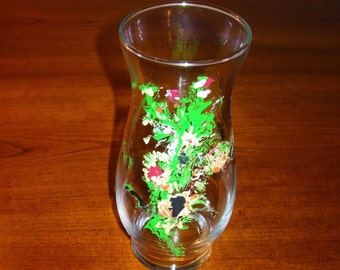 Vase Decorative Vase Hand Painted Vase Glass Vase Painted Glass Vase
