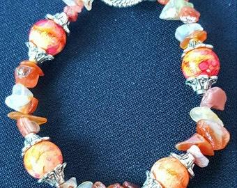 Orange Stone Bracelet