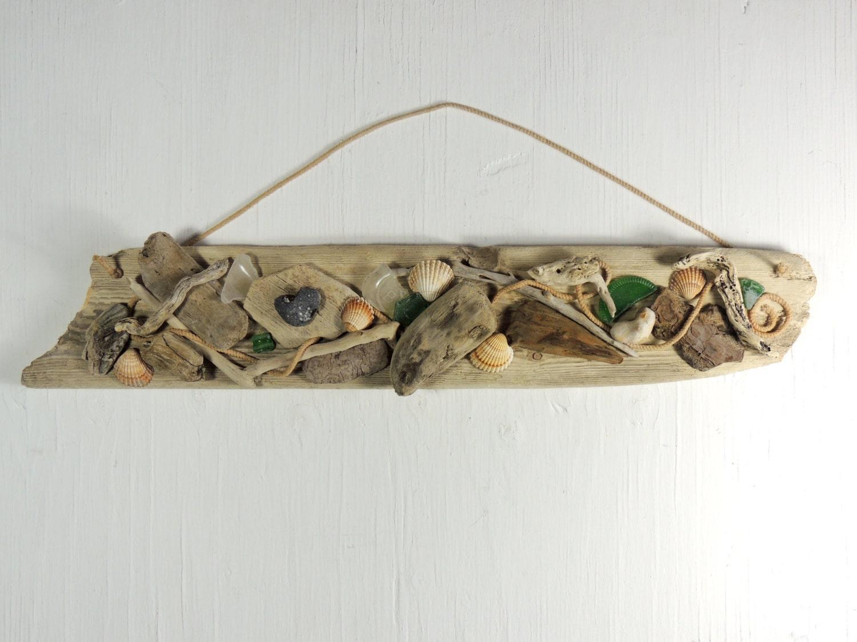Driftwood beach decor driftwood wall hanging driftwood plaque for Driftwood wall