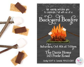 Bonfire Invitation Backyard Bonfire Invitation Bonfire