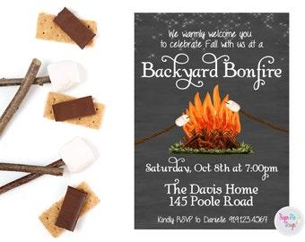 Bonfire Invitation Etsy
