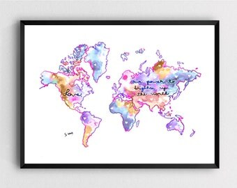 Love Map - Art Print