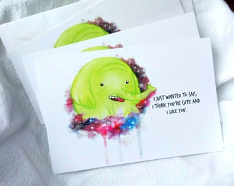 Cute Note Tree Trunks - Set of 3 note cards