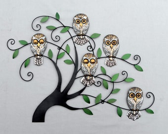 Owl Metal Wall Art
