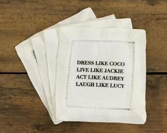 Coasters\ Napkins- Dress like Coco