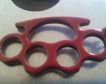 Brass knuckle key chain