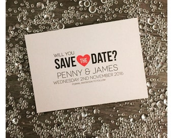 Save the Date Wedding Postcards - A6 x 8