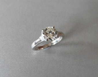 Diamond solitaire ring 1.29ct