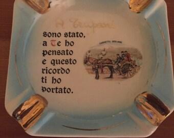 Vintage Italian Porcelain Ashtray