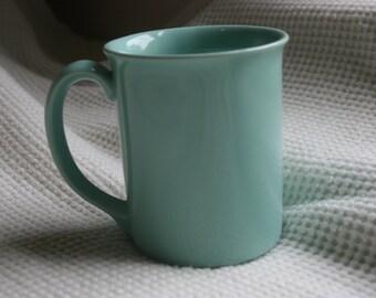 vintage robin's egg blue mug