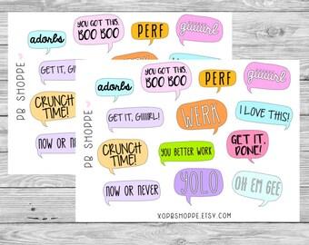 13 Blurb Bubble Stickers