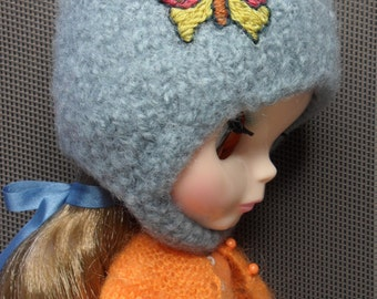 BLYTHE DOLL Blue Butterfly Hat Only