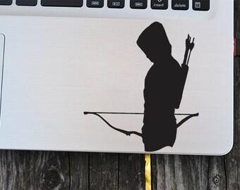 Green Arrow Vinyl Decal, laptop decal, vinyl decals, macbook decal, wall sticker, car decal
