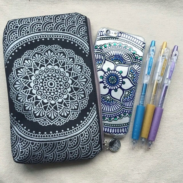 Hand Painted Drawn Henna Art Phone Case Bag Amp By SnowHennaArt